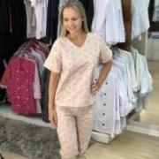 Pijama Cirúrgico à Pronta-entrega - Estampa de Elefantinhos