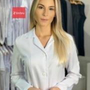 Jaleco Feminino Slim - Gola Tradicional Microfibra Italiana